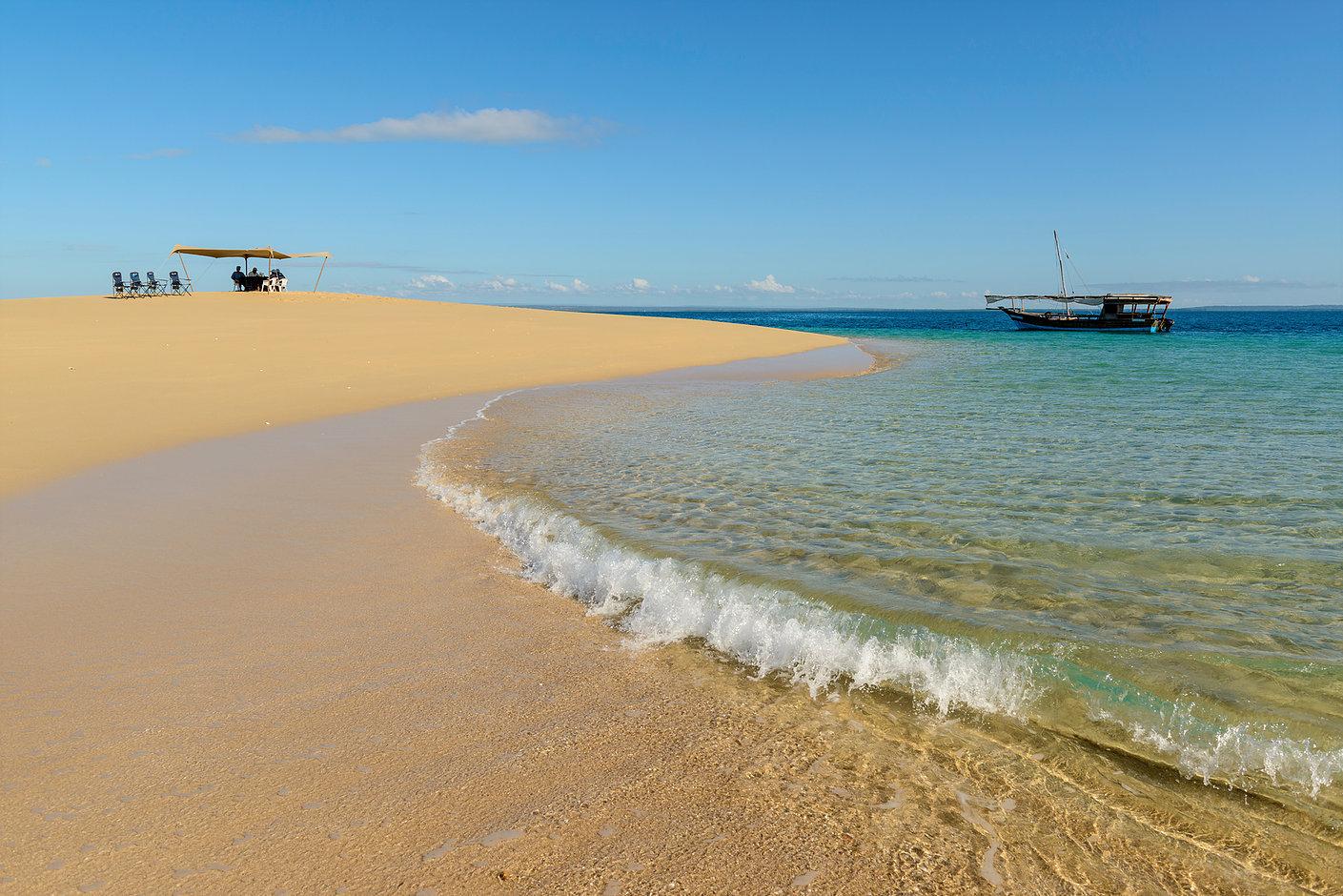Ibo Island. Sandbank beach, Mozambique