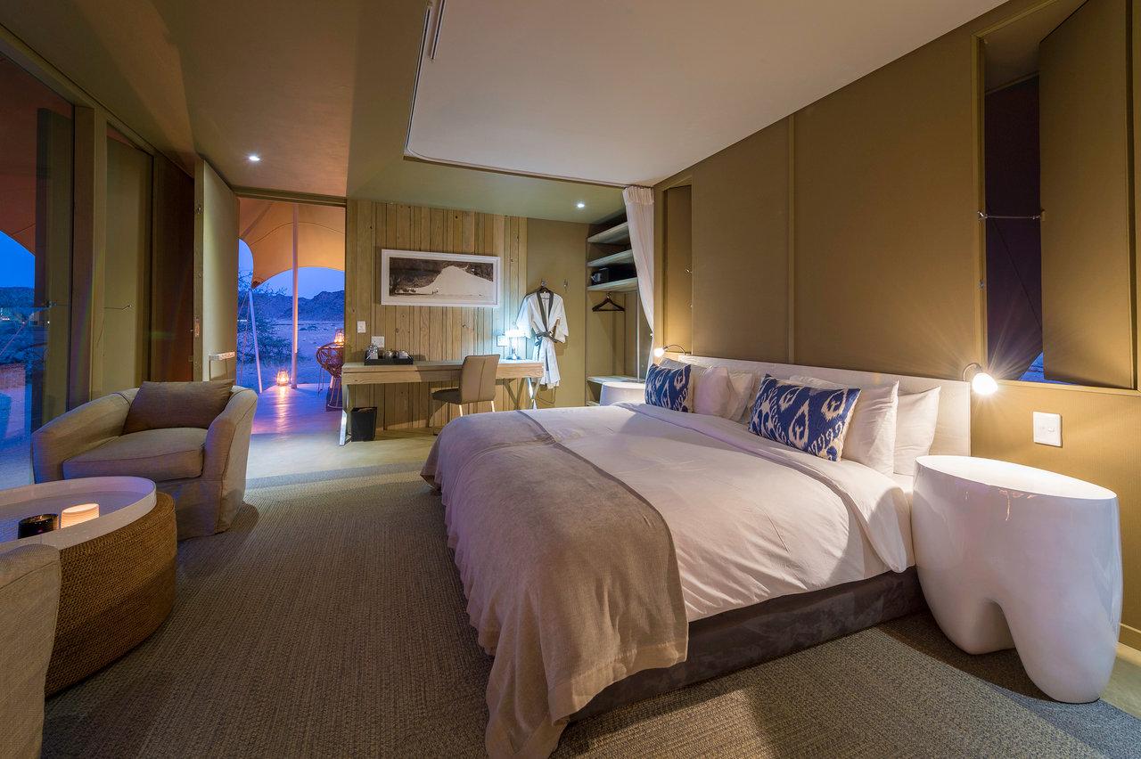 Hoanib Skeleton Coast Camp, bedroom