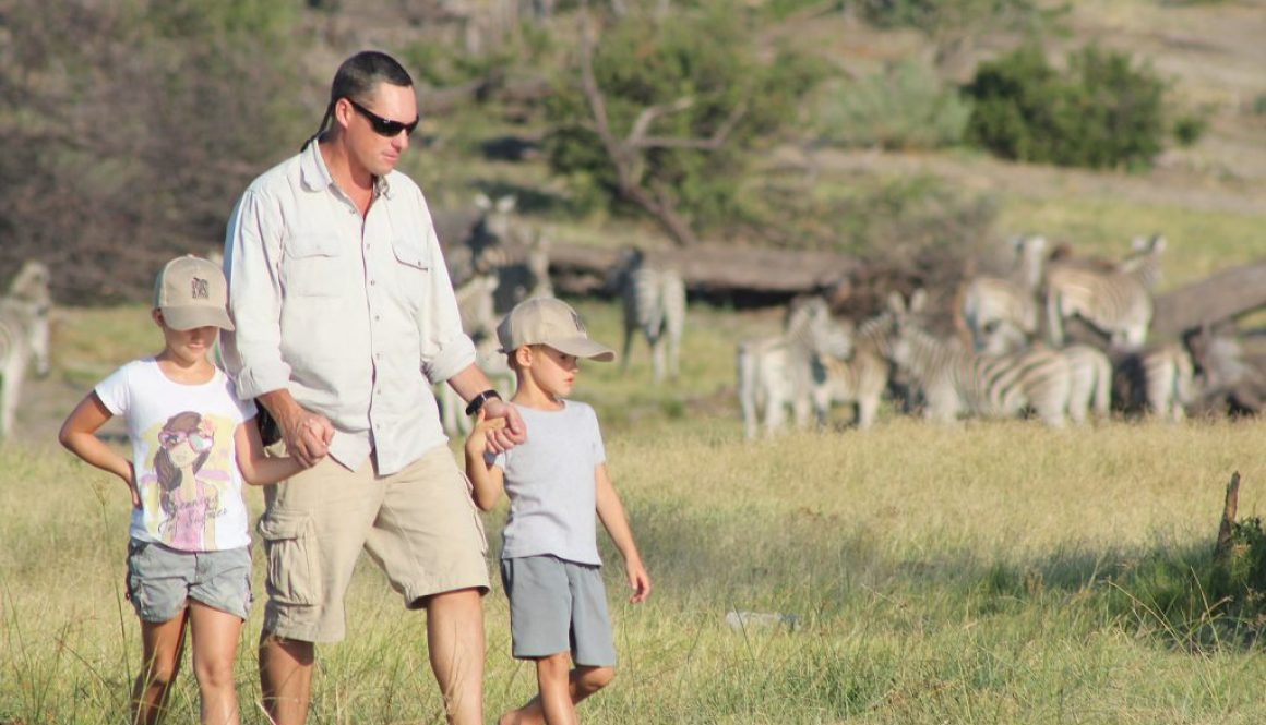 Game walk on a family safari
