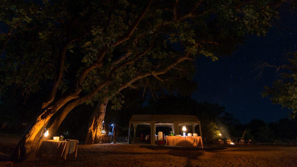 Pafuri Walking Safari dinner tent