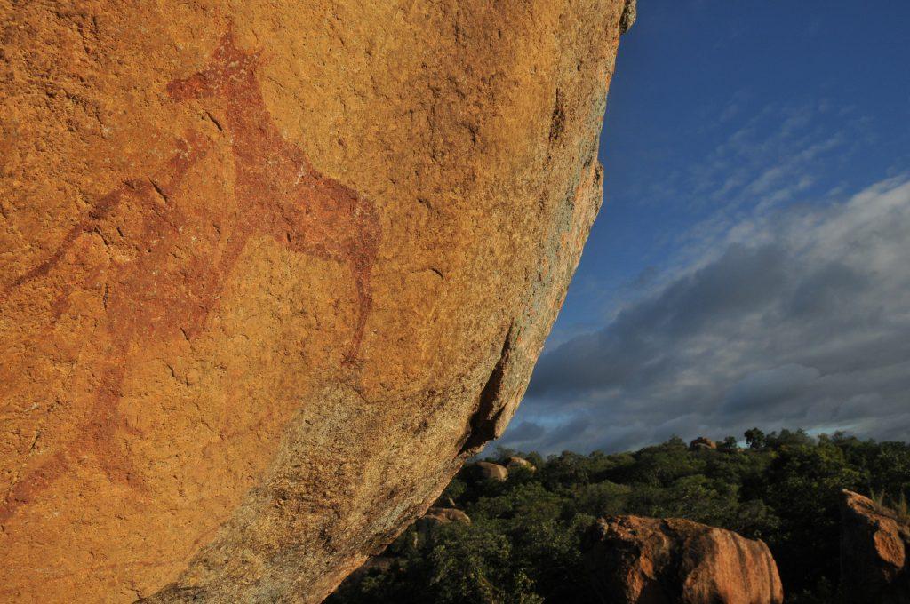 Motopo Bushman painting - Zimbabwe & Botswana Budget Lodge Safari