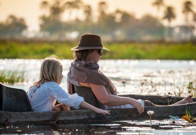 Botswana Okavango Delta family safari mokoro