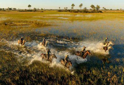 Horseback safari Okavango Delta Botswana