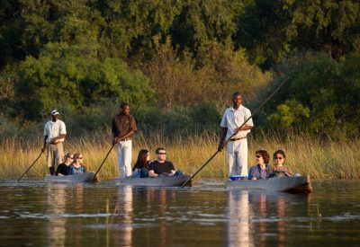 Okavango Delta Botswana lodge safari mokoro