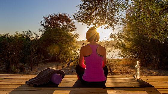 Yoga safari Victoria Falls River Lodge